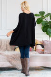 Sweater Fabric Oversize Round Neck Poncho