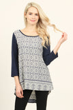 Abstract Print High Low Tunic