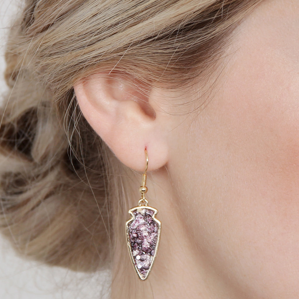 Arrowhead Shape Drop Earrings
