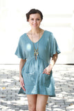 Side Tassel Tie Relax Tunic Dress