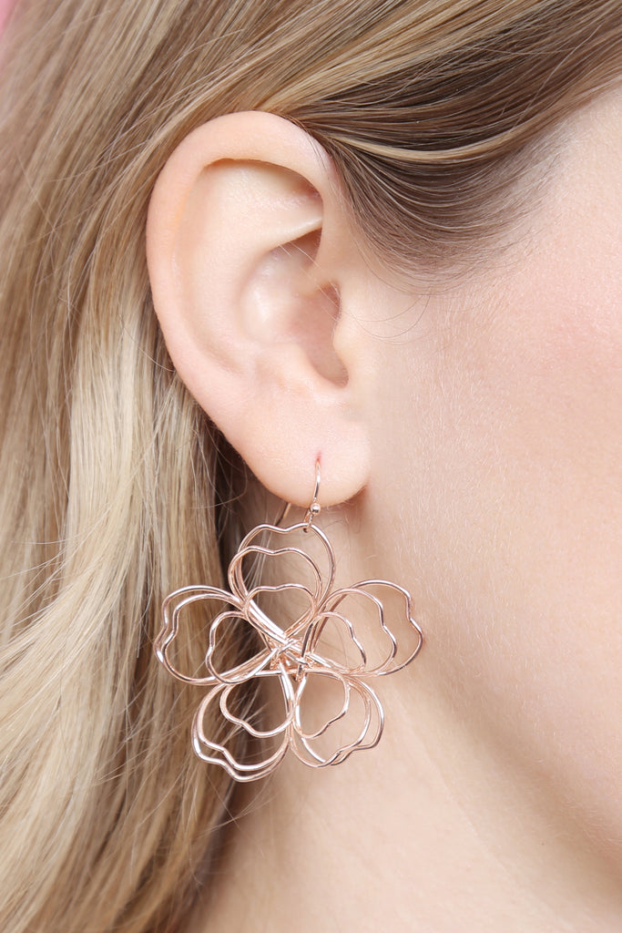 WIRE FLOWER EARRINGS