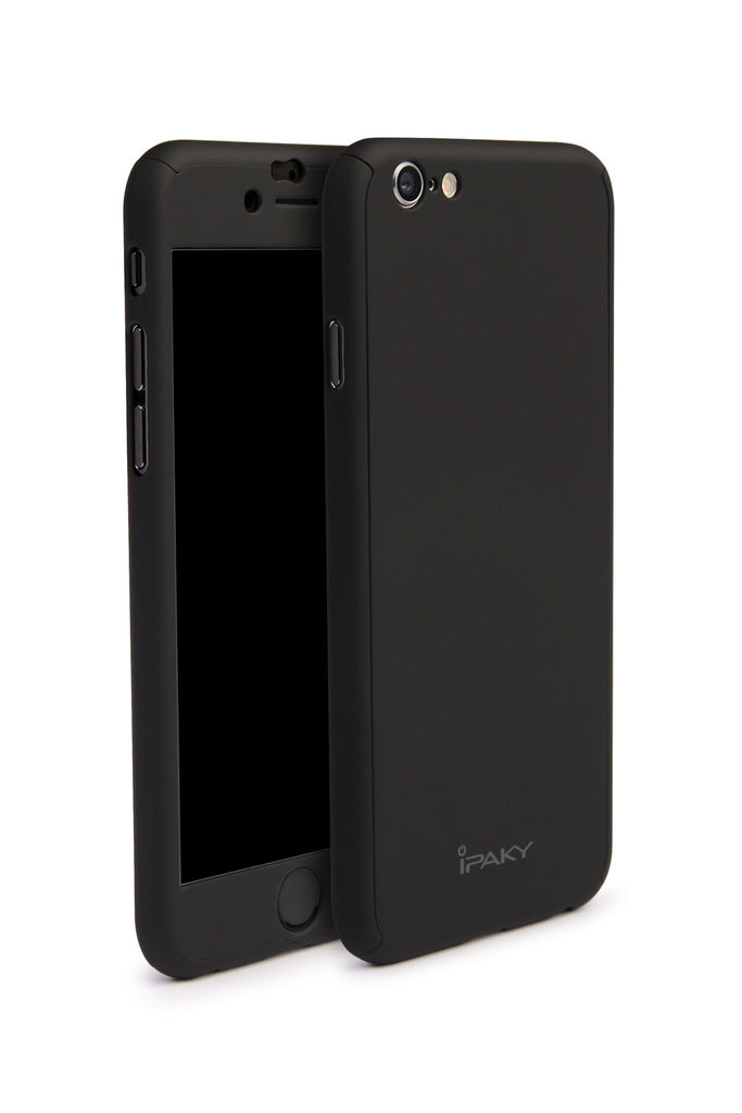 Ipaky iPhone Case, All around Protective Case with Tempered Glass Screen