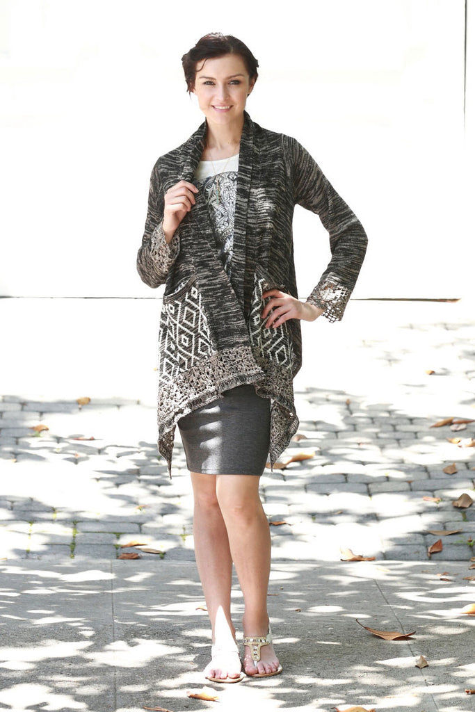 Aztec Print Cardigan - 2 Colors