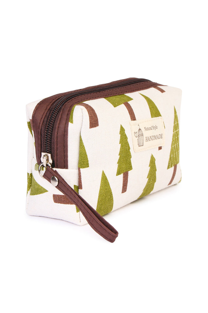 J122-4 - GREEN TREE COSMETIC POUCH