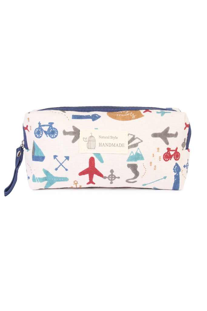 J122-6 - SUMMER AIRPLANE COSMETIC POUCH