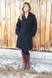 Sophisticating Textured Black Coat