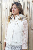 Trendy Faux Fur Hood Vest-3 Colors!