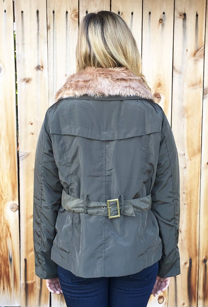 Faux Fur Trim Cozy Jacket-3 Colors!
