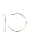 Double Wire Post Hoop Earrings