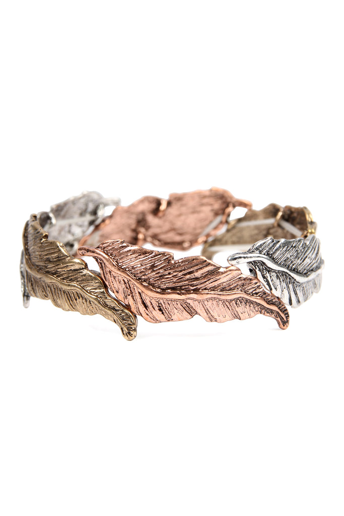Feather Cast Stretch Bracelet