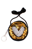 Reversible Circle Sequin Crossbody Bag