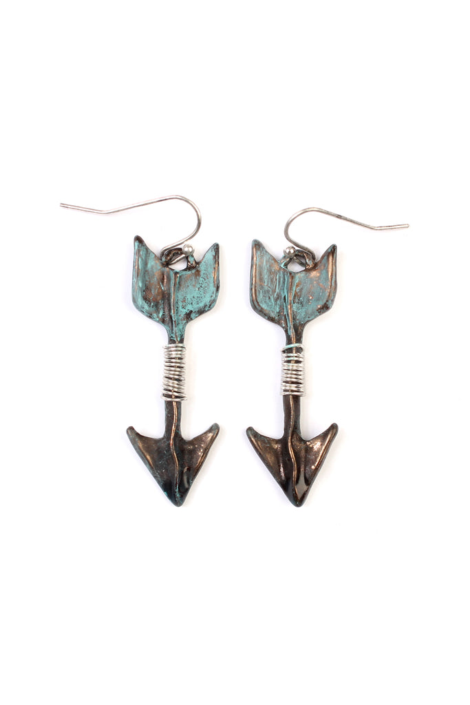 Vintage Wired Fish Hook Arrow Earring