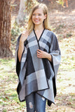 Soft Plaid Poncho
