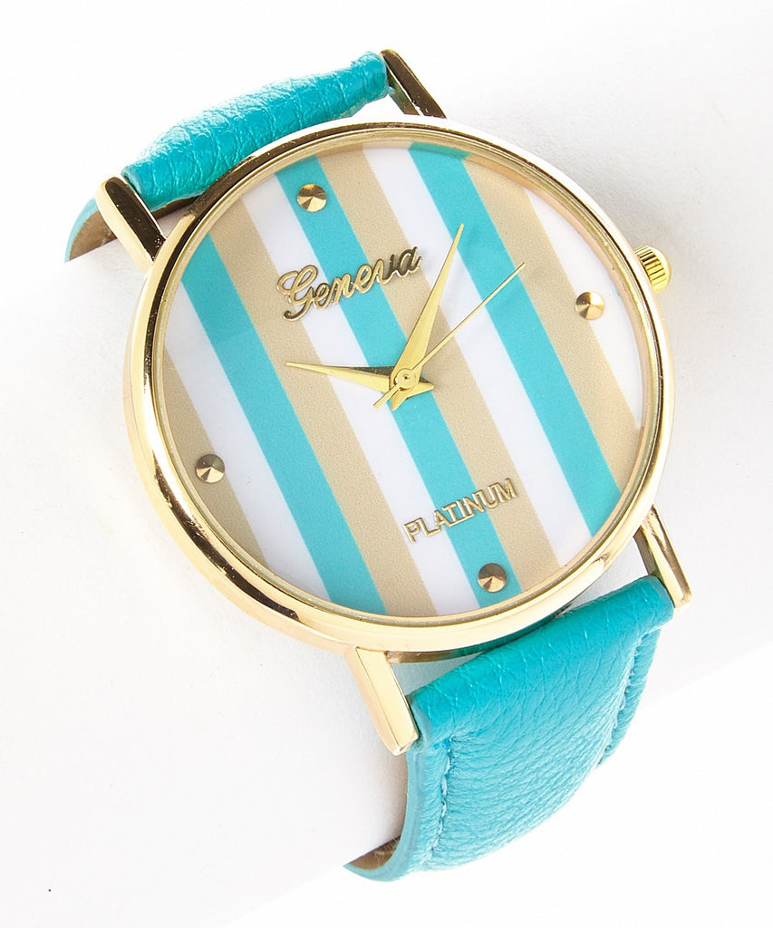 Vertical Stripe Watch