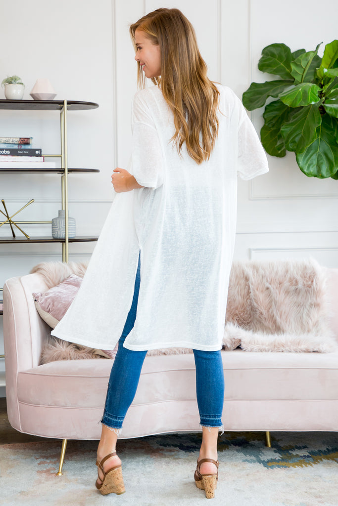 Lightweight Solid Kimono Cover Up