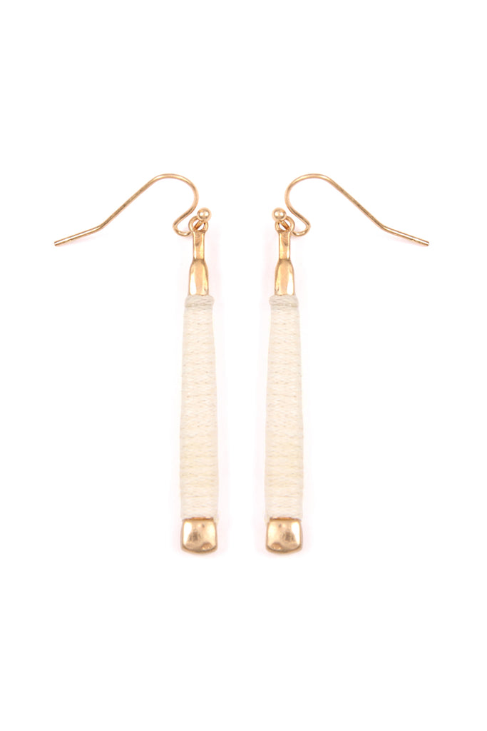 Thread Wrap Bar Drop Earrings