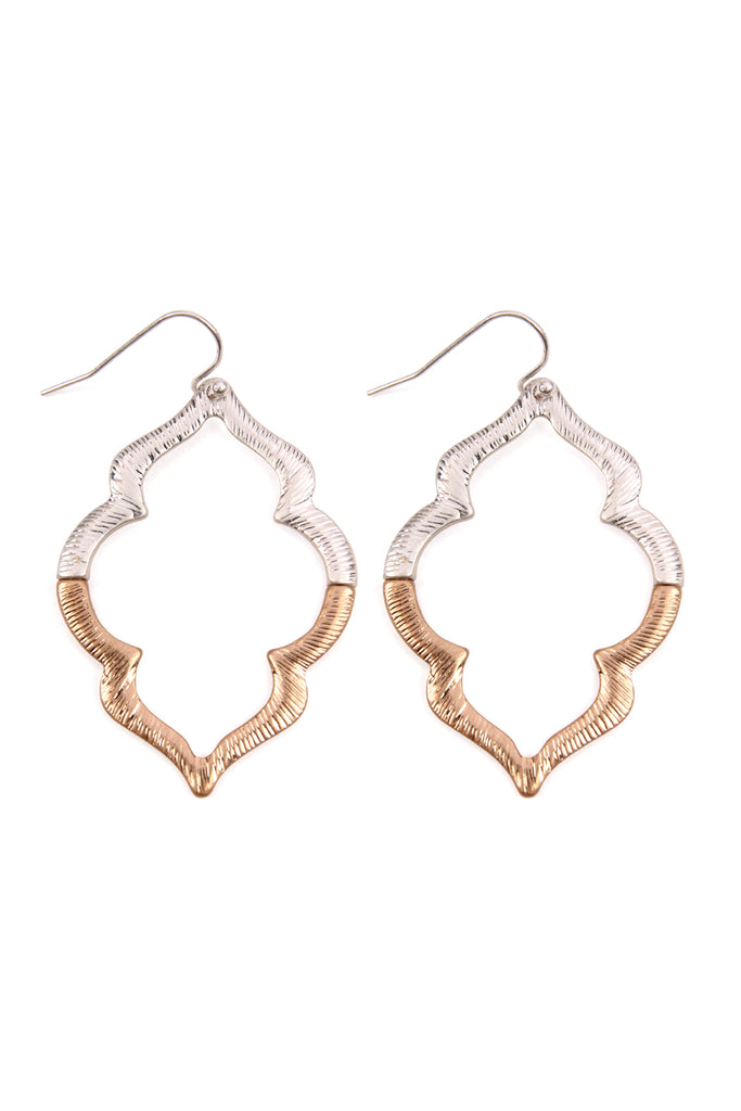 Embellished Marquise Hook Earrings