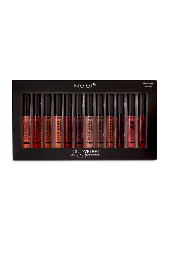 12-Piece Liquid Velvet Long Lasting Lipstick Set - Riah Fashion
