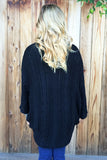 Textured Knit Poncho - 4 Colors