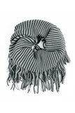 Oversize Striped Infinity Scarf