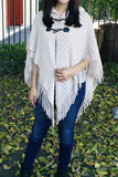 Button Strap Poncho-5 Colors!