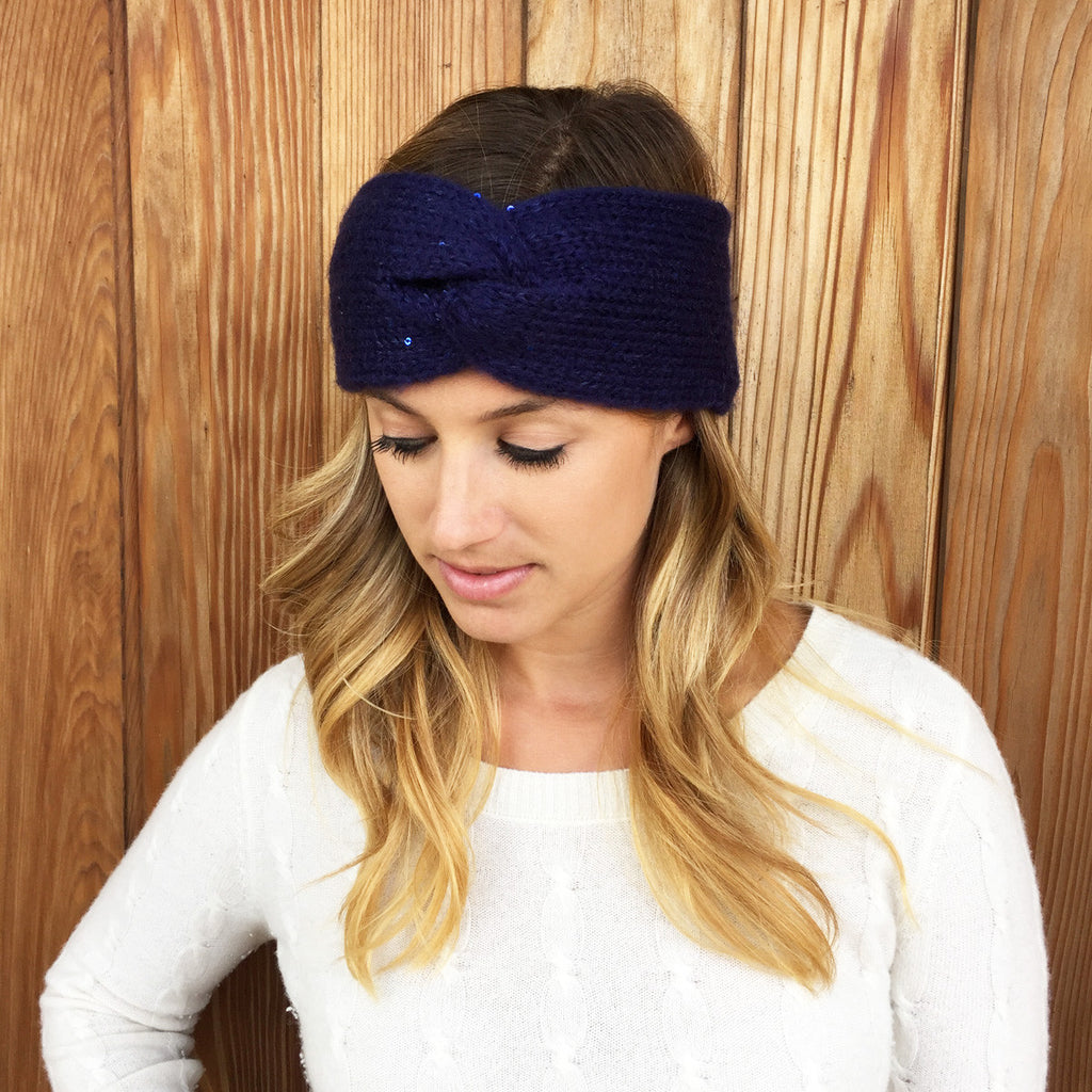 Sparkling Knit Head Wrap