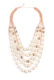 5 Strands Pearl Necklace