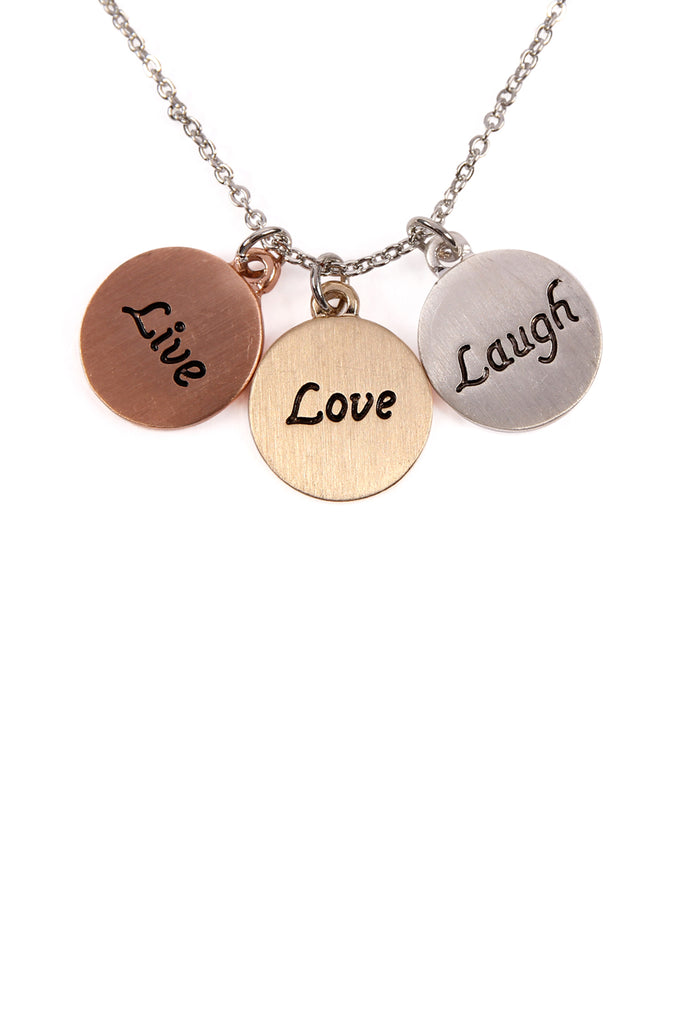 Triple Pendant Charm Necklaces
