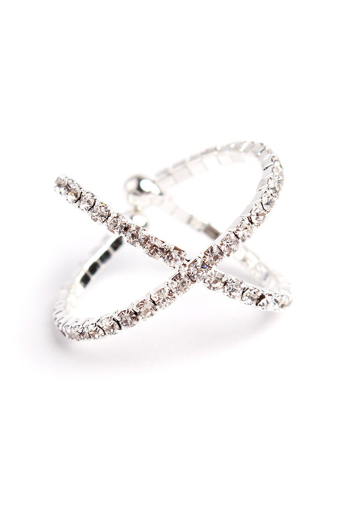 Crossing Cuff Ring