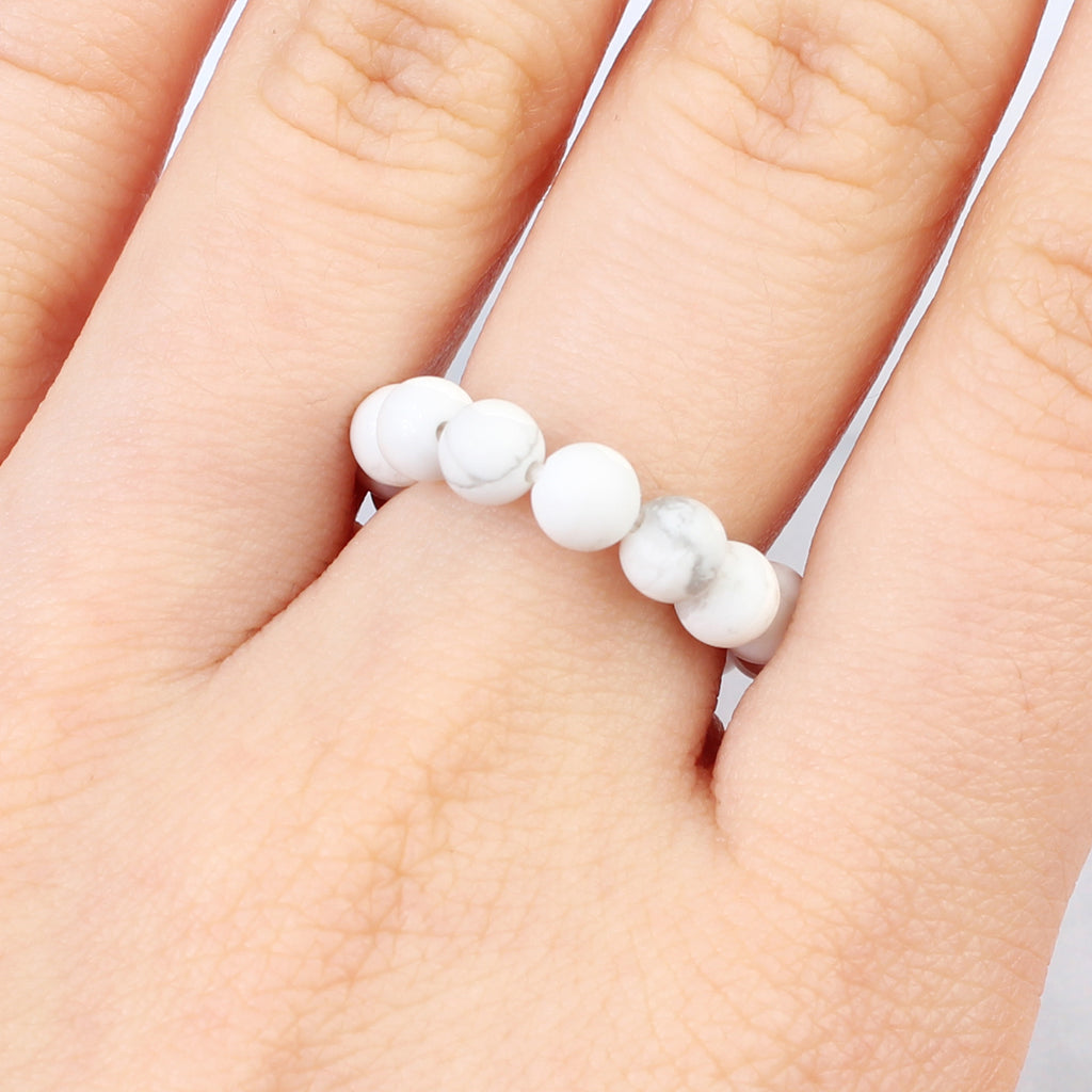 Stretch Natural Stone Ring
