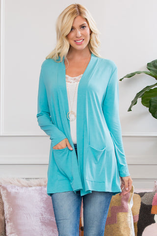 Cuff Sleeve V-Neck Blouse