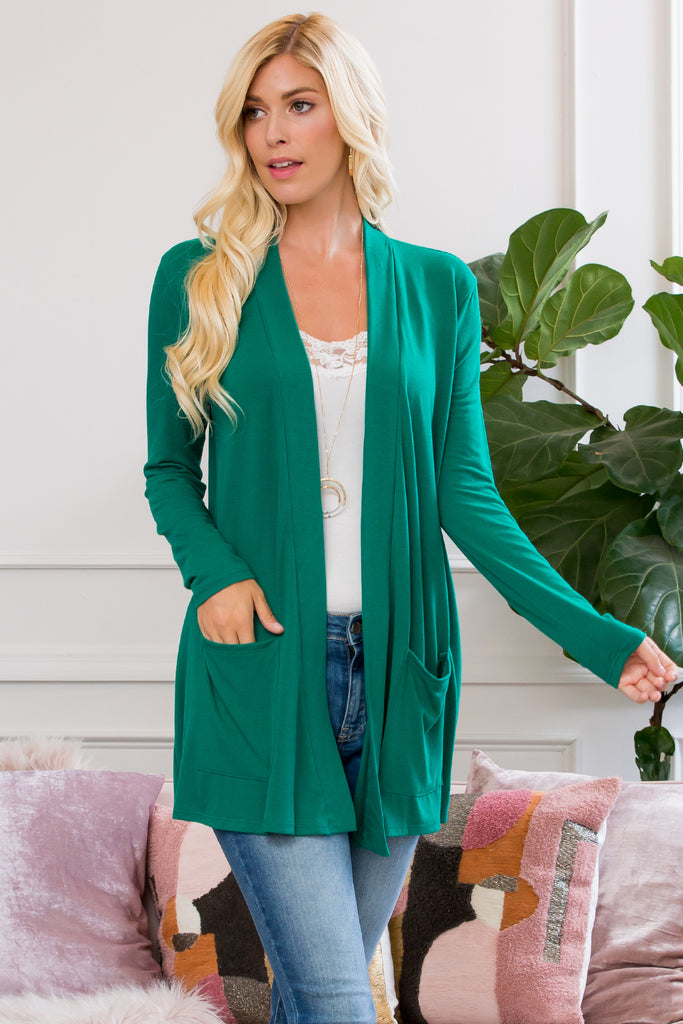 Slouchy Pocket Open Cardigan