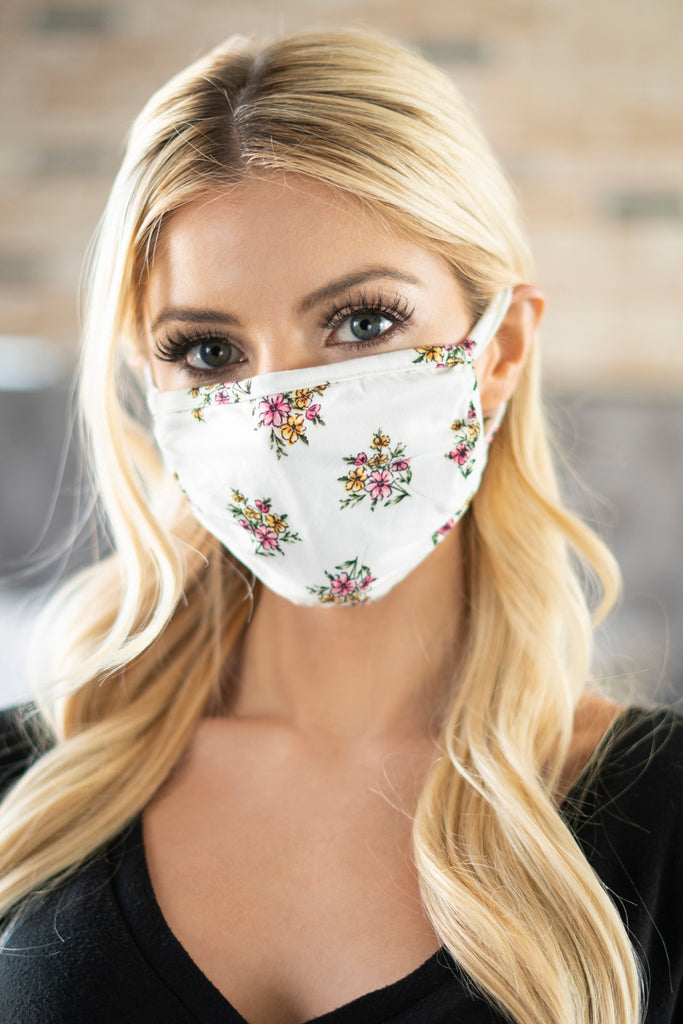 RFM6002-RFL052 - FLORAL REUSABLE FACE MASKS FOR ADULTS