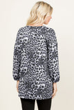 Hacci Pocket Leopard Top