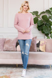 Long Sleeved Solid Hacci Top