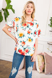 Floral Double Ruffle Sleeved Top