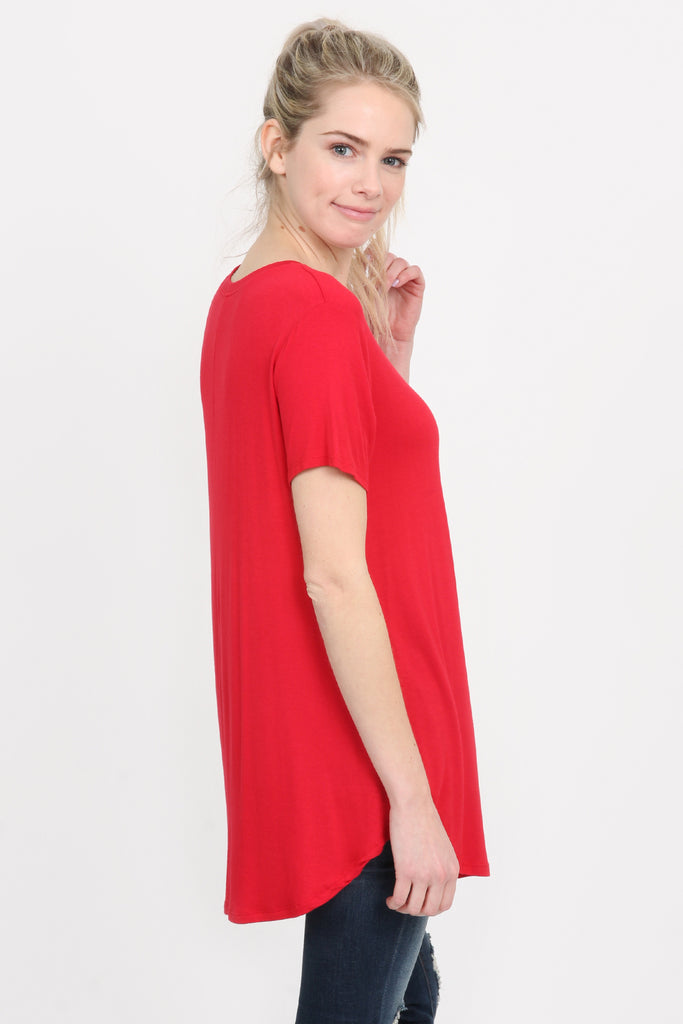 Premium Rayon Short Sleeve Top