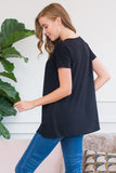 Short Sleeved Pleated Tunic