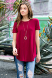 Short Sleeved Round Neck Boyfriend Tunic