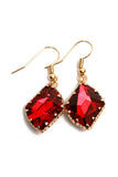 Faceted Faux Gem Earring