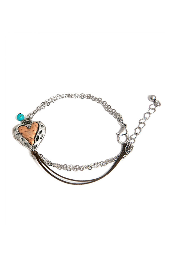 Heart Multi Chain Bracelet