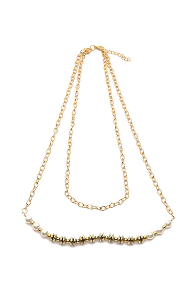 Beaded Chain Necklace - Riah Fashion