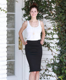 Stretchable Pencil Skirt
