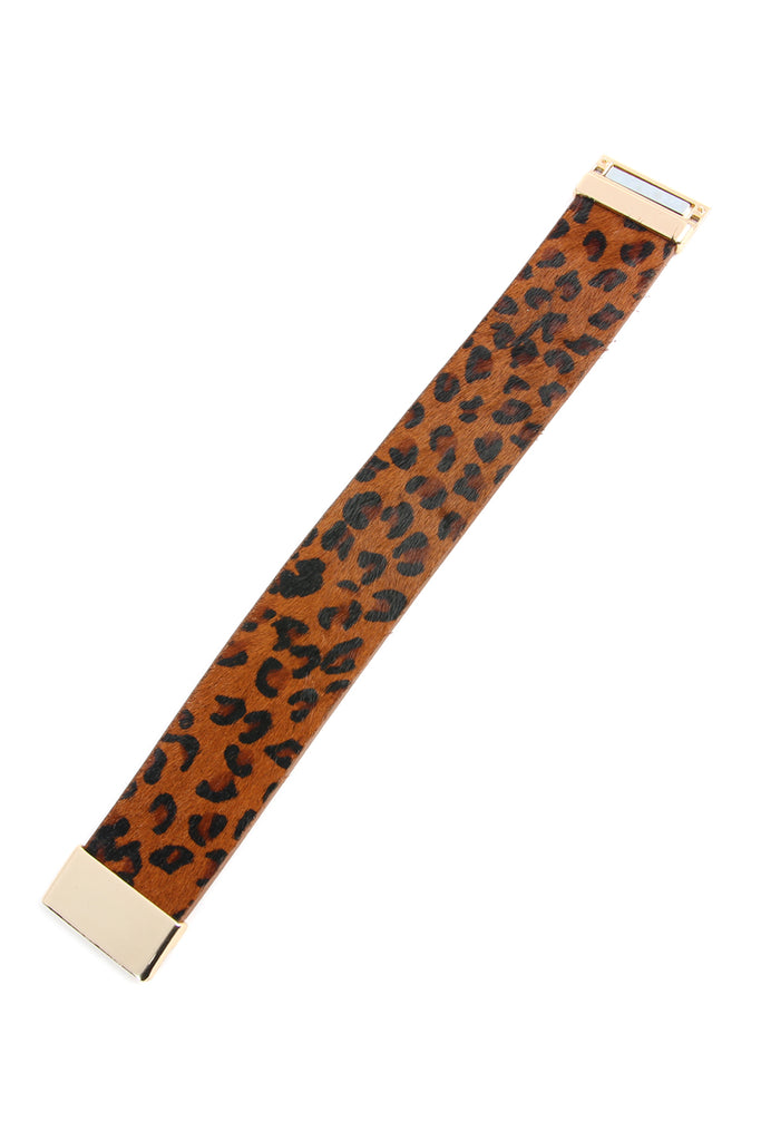 Leopard Leather Bracelet