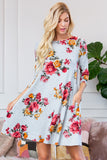Floral Print Hacci Pocket Dress Dress