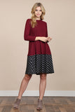 Polka Dot Contrast Pocket Dress