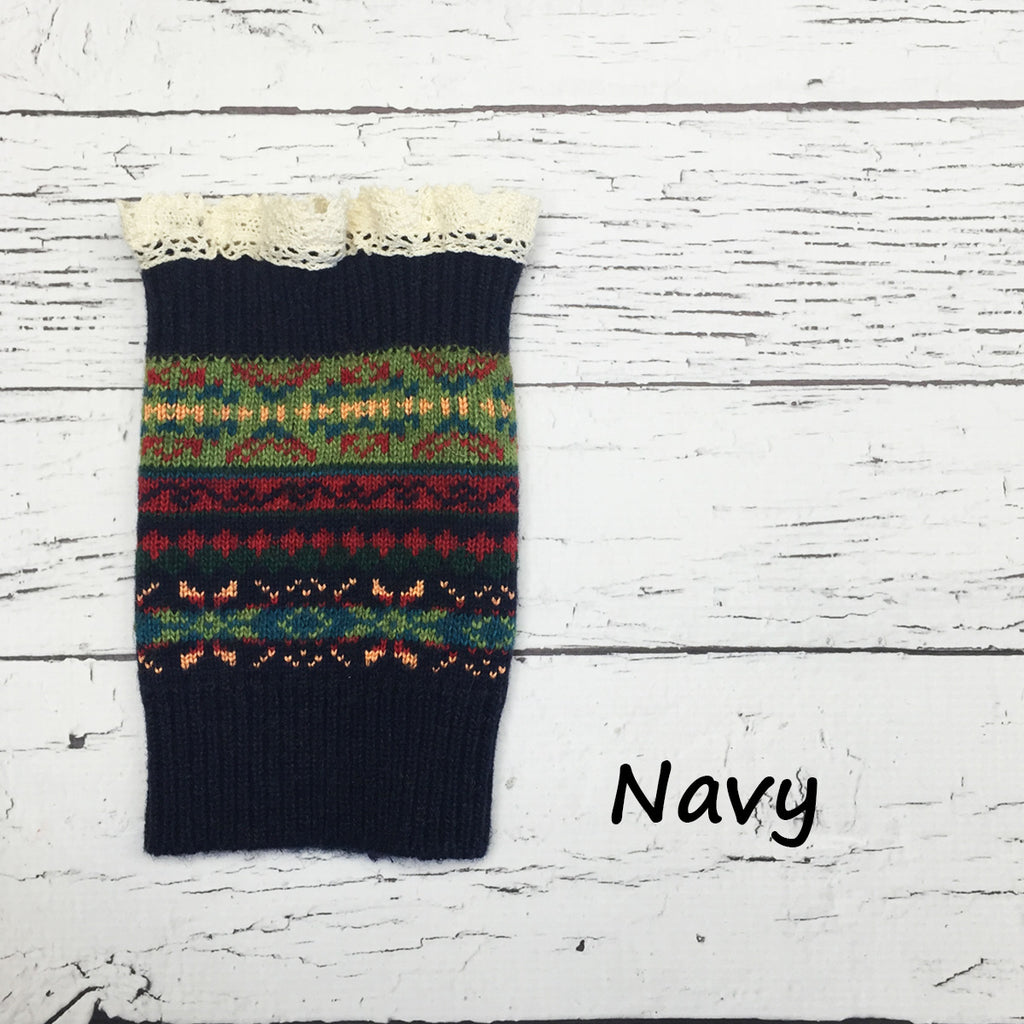 Tribal Print Boot Cuffs | 5 Colors