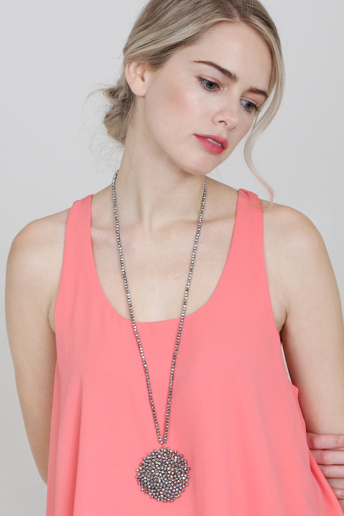 Long Rondelle Necklace