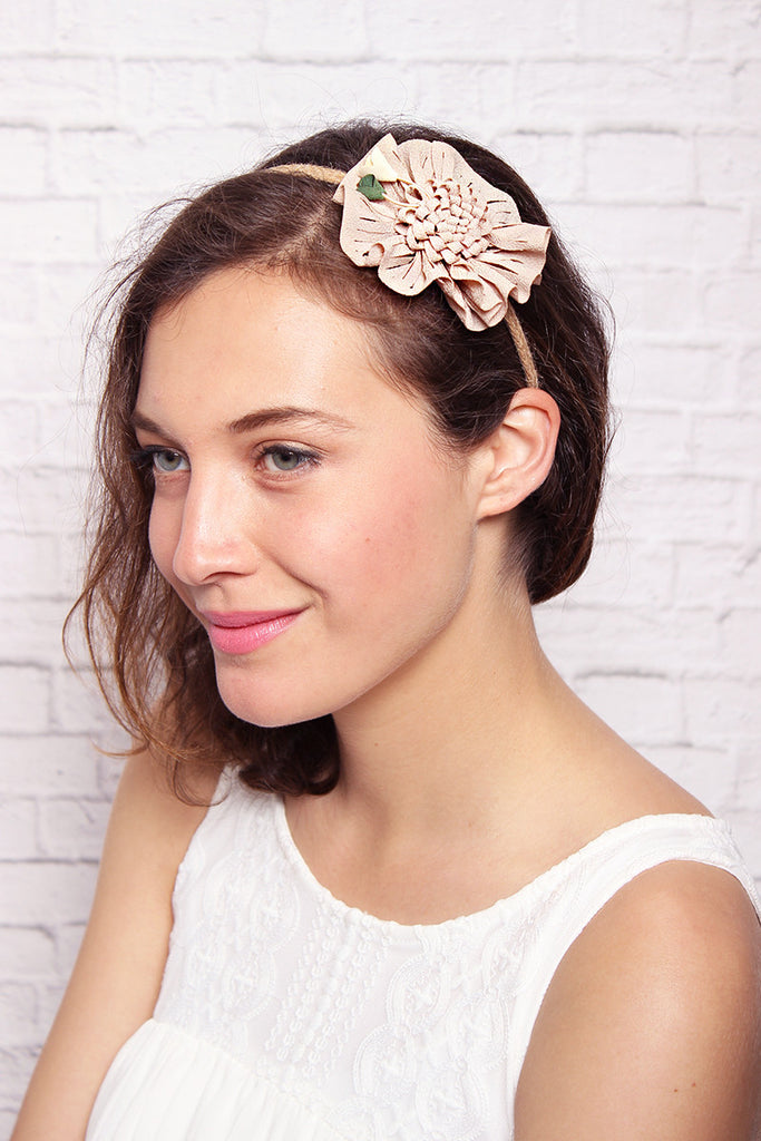 Flower Bow Head Band