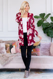 Floral Print Open Cardigan